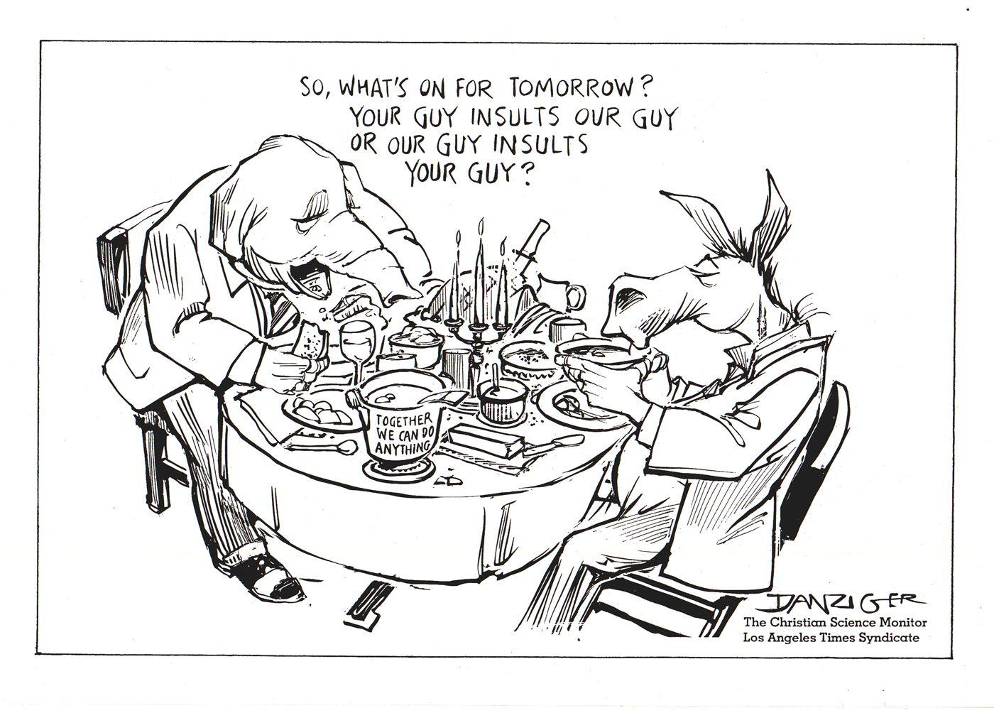 Jeff Danziger American Political Cartoons 1754 2010